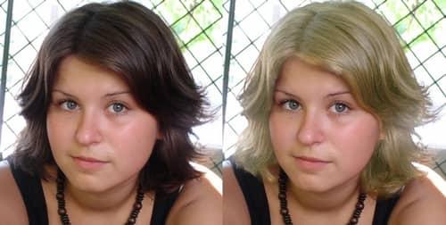 как поменять на фото цвет волос онлайн