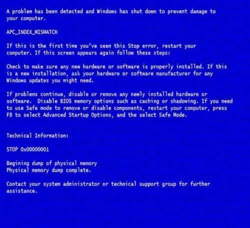 Как лечить синий экран смерти bsod
